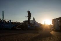2016/2017 FIA Formula E Championship. Marrakesh ePrix, Circuit International Automobile Moulay El Hassan, Marrakesh, Morocco. Saturday 12 November 2016. Sebastien Buemi (SUI), Renault e.Dams, Spark-Renault, Renault Z.E 16, celebrates in parc ferme. Photo: Andrew Ferraro/LAT/Formula E ref: Digital Image _79P4870