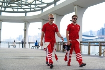 | Photographer: Dan Bathie| Event: Hong Kong ePrix| Circuit: Hong Kong| Location: Hong Kong| Series: FIA Formula E| Season: 2016-2017| Country: HK| Driver: Nick Heidfeld| Team: Mahindra Racing| Number: 23| Car: M3 Electro| |Driver: Felix Rosenqvist| Team: Mahindra Racing| Number: 19| Car: M3 Electro|