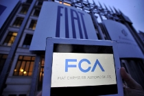 La sede della FIAT a Torino, nel giorno della nascita di Fiat Chrysler Automobiles