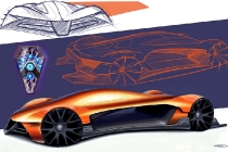 2017 Drive for Design contest winner: The first-place winning sketch for the FCA US Drive for Design competition, designed by Davis Kunselman, Mount de Sales Academy (Macon, Georgia)