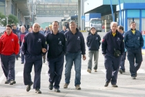 TERMINI IMERESE (PA) 24.11.2011 – Fiat Termini Imerese: ultimo giorno di produzione, poi cassa integrazione fino al 31 dicembre. ANSA/MICHELE NACCARI