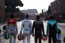 2017/2018 FIA Formula E Championship. Street Demonstration - Rome, Italy. Thursday 19 October 2017. Photo: Malcom Griffiths/LAT/Formula E ref: Digital Image WhatsApp Image 2017-10-19 at 09.04.28