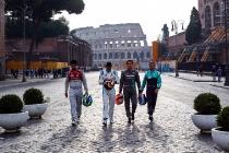 2017/2018 FIA Formula E Championship. Street Demonstration - Rome, Italy. Thursday 19 October 2017. Photo: Malcom Griffiths/LAT/Formula E ref: Digital Image WhatsApp Image 2017-10-19 at 09.04.39