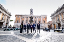 2017/2018 FIA Formula E Championship. Street Demonstration - Rome, Italy. Thursday 19 October 2017. Photo: Malcom Griffiths/LAT/Formula E ref: Digital Image WhatsApp Image 2017-10-19 at 09.48.08