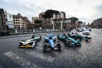 2017/2018 FIA Formula E Championship. Street Demonstration - Rome, Italy. Thursday 19 October 2017.  Photo: Sam Bloxham/LAT/Formula E ref: Digital Image IMG_8944
