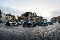 2017/2018 FIA Formula E Championship. Street Demonstration - Rome, Italy. Thursday 19 October 2017.  Photo: Sam Bloxham/LAT/Formula E ref: Digital Image IMG_8945