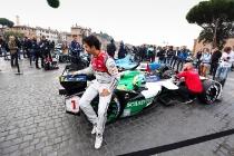 2017/2018 FIA Formula E Championship. Street Demonstration - Rome, Italy. Thursday 19 October 2017. Photo: Malcom Griffiths/LAT/Formula E ref: Digital Image WhatsApp Image 2017-10-19 at 09.04.15