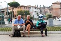 2017/2018 FIA Formula E Championship. Street Demonstration - Rome, Italy. Luca Filippi (ITA), NIO Formula E Team. Thursday 19 October 2017. Photo: Malcom Griffiths/LAT/Formula E ref: Digital Image IMG_8964