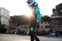 2017/2018 FIA Formula E Championship. Street Demonstration - Rome, Italy. Luca Filippi (ITA), NIO Formula E Team. Thursday 19 October 2017. Photo: Malcom Griffiths/LAT/Formula E ref: Digital Image IMG_8966