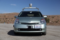 A Google Inc. driverless car is seen in this handout photo taken on Oct. 8, 2010. The Google vehicles navigate using video cameras, radar sensors, a laser range finder and detailed maps, according to a Google blog post. Source: Google Inc. via Bloomberg EDITOR'S NOTE: EDITORIAL USE ONLY. NO SALES.