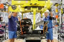 Einbau des Motors.