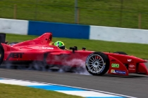2014 Formula E Championship Donington Park Test Lucas di Grassi (BRA) Audi Sport Abt Friday 4 July 2014. Photo Agency:LAT Photographic ref: Digital Image F80P7927