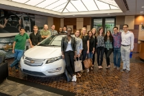 Eight MBA teams from Babson, Columbia, Harvard, University of Michigan, University of California-Berkeley and Stanford visit the General Motors Detroit-Hamtramck Assembly plant - home of the Chevrolet Volt -  Wednesday, July 23, 2014 in Detroit, Michigan. Sponsored by Chevrolet, the MBAs Across America teams will help more than 35 businesses nationwide, traveling in a fleet of 4G LTE Chevrolet Volts. (Photo by Steve Fecht for Chevrolet)