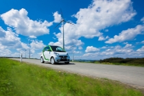 e-smart mit Windrad