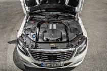 Der Motorraum des S 500 PLUG-IN HYBRID. Der S 500 PLUG-IN HYBRID verfügt über einem V6 Benzinmotor.