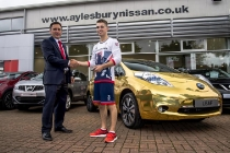 nissan-ambassador-max-whitlock-receives-his-gold-all-electric-nissan-leaf-8