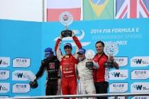 FIA Formula E -  Podium Beijing E-Prix, China Saturday 13 September 2014.  Photo: Malcolm Griffiths/LAT/ Formula E ref: Digital Image A50A9026