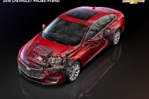 The 2016 Chevrolet Malibu Hybrid, which uses technology from the Chevrolet Volt, will offer a General Motors-estimated 48 mpg city, 45 mpg highway – and 47 mpg combined, unsurpassed in the segment.