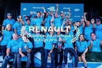 2017 - Renault e.dams célèbre son troisième titre consécutif en Formule E