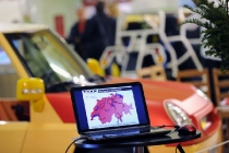 Lugano: Vel Expo Ticino 2011 esposizione veicoli efficienti. ©Ti-Press/Gabriele Putzu