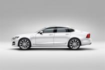 Profile Left Volvo S90 White