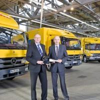 Camion ibridi in dotazione alle poste tedesche