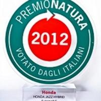 Il Premio Natura 2012 va alla Honda Jazz Hybrid