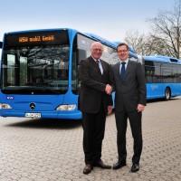 Il bus Citaro G BlueTec Hybrid a Wuppertal