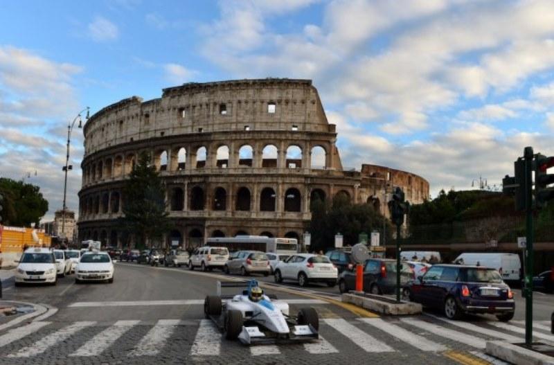 Foto di repertorio della presentazione dell'ePrix di Roma di Formula E del 2014, mai realizzato