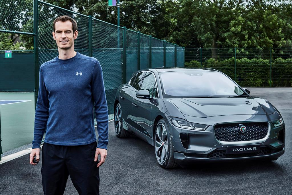 jaguar ipace. Andy Murray