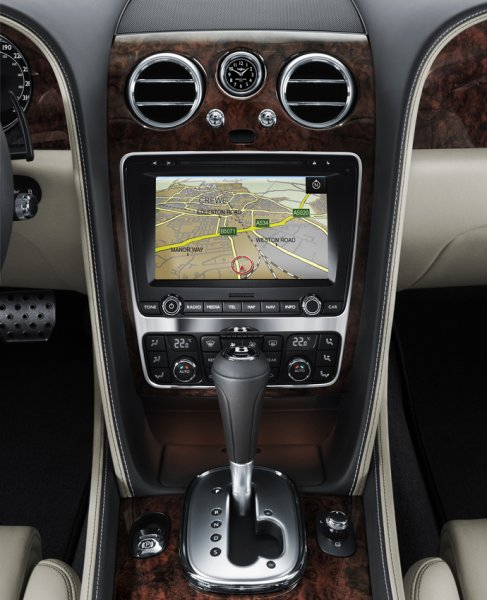 CGT Studio interior Close up of Satnav/MMI-screen
