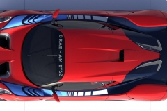 Brabham BT62 Plan View Red
