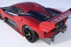 Brabham BT62 Rear Quarter View Red