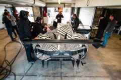Brabham BT62 testing in pit