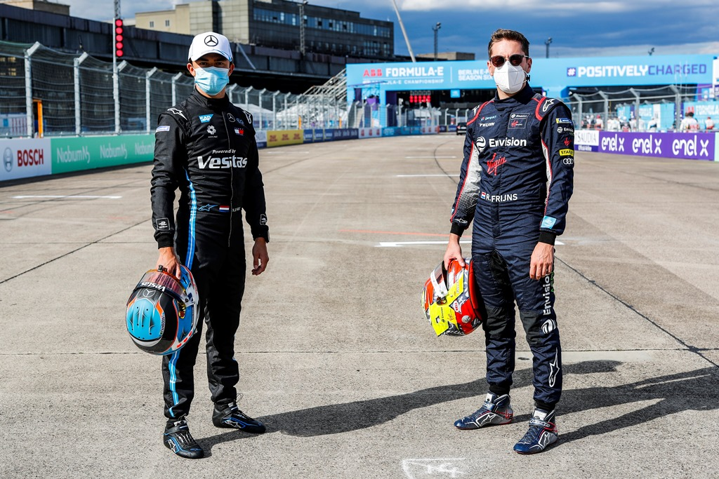 Nyck De Vries (NLD), Mercedes Benz EQ and Robin Frijns (NLD), Envision Virgin Racing