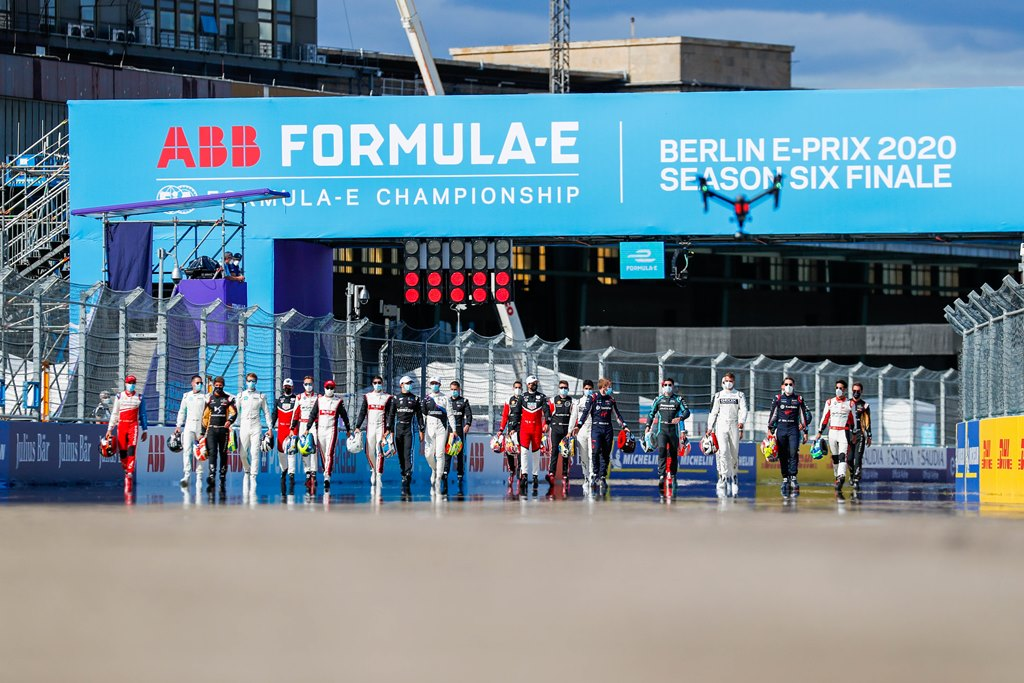 Formula E grid walk away from the start line