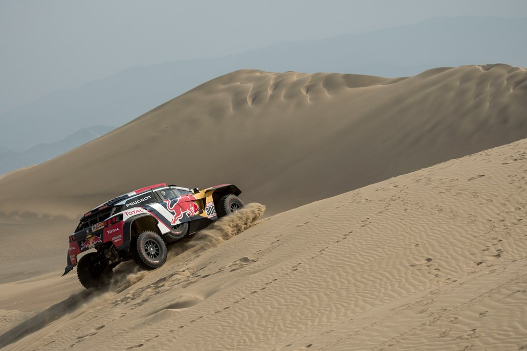 Cyril Despres (FRA) of Team Peugeot Total races during stage 03 of Rally Dakar 2018 from Pisco to Marcona, Peru on January 8, 2018