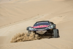 Carlos Sainz (ESP) of Team Peugeot Total races during stage 03 of Rally Dakar 2018 from Pisco to Marcona, Peru on January 8, 2018