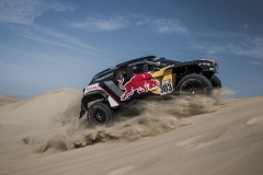 Carlos Sainz (ESP) of Team Peugeot TOTAL races during stage 3 of Rally Dakar 2018 from Pisco to San Juan de Marcona, Peru on January 8, 2018.