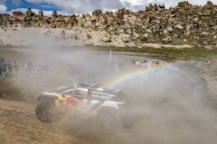 Carlos Sainz (ESP) of Team Peugeot Total races during stage 06 of Rally Dakar 2018 from Arequipa to La Paz, Bolivia on January 11, 2018 // Marcelo Maragni/Red Bull Content Pool // P-20180111-00710 // Usage for editorial use only // Please go to www.redbullcontentpool.com for further information. //