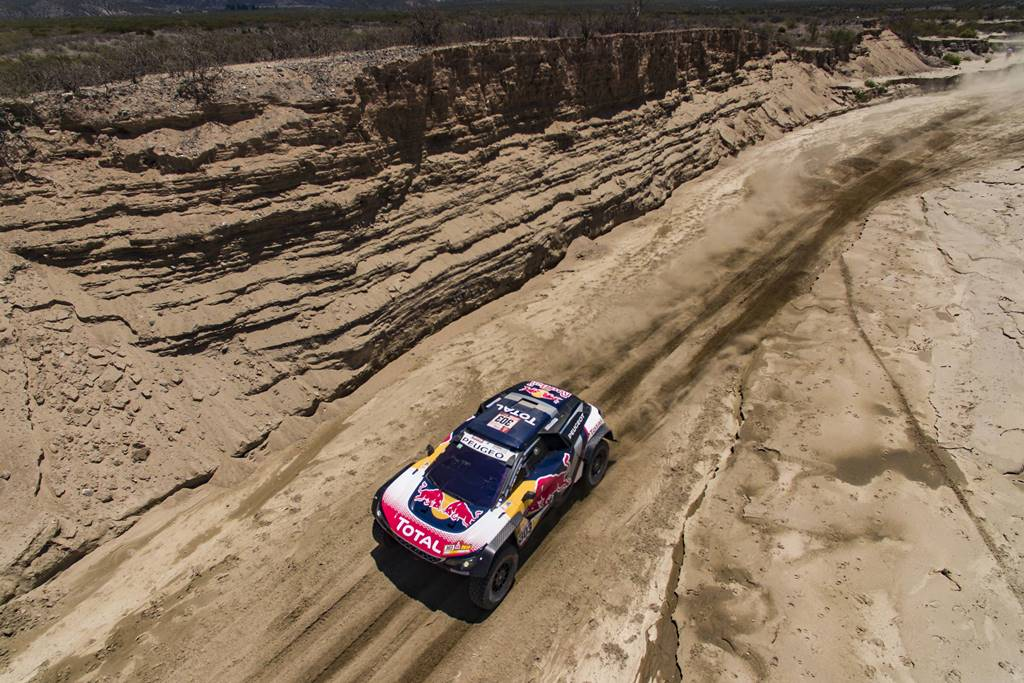 Carlos Sainz (ESP) of Team Peugeot Total races during stage 10 of Rally Dakar 2018 from Salta to Belem, Argentina on January 16, 2018 // Marcelo Maragni/Red Bull Content Pool // P-20180116-01089 // Usage for editorial use only // Please go to www.redbullcontentpool.com for further information. //
