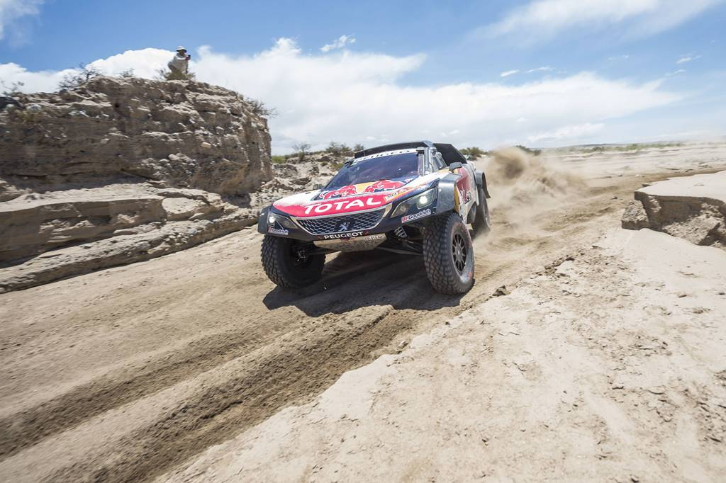 Carlos Sainz (ESP) of Team Peugeot Total races during stage 10 of Rally Dakar 2018 from Salta to Belem, Argentina on January 16, 2018 // Marcelo Maragni/Red Bull Content Pool // P-20180116-01104 // Usage for editorial use only // Please go to www.redbullcontentpool.com for further information. //