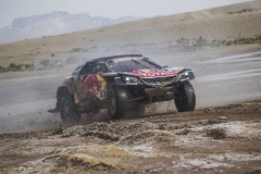Carlos Sainz (ESP) of Team Peugeot TOTAL races during stage 8 of Rally Dakar 2018 from Uyuni to Tupiza, Bolivia on January 14, 2018. // Flavien Duhamel/Red Bull Content Pool // P-20180114-00356 // Usage for editorial use only // Please go to www.redbullcontentpool.com for further information. //