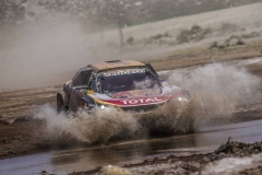 Stephane Peterhansel (FRA) of Team Peugeot TOTAL races during stage 8 of Rally Dakar 2018 from Uyuni to Tupiza, Bolivia on January 14, 2018. // Flavien Duhamel/Red Bull Content Pool // P-20180114-00344 // Usage for editorial use only // Please go to www.redbullcontentpool.com for further information. //