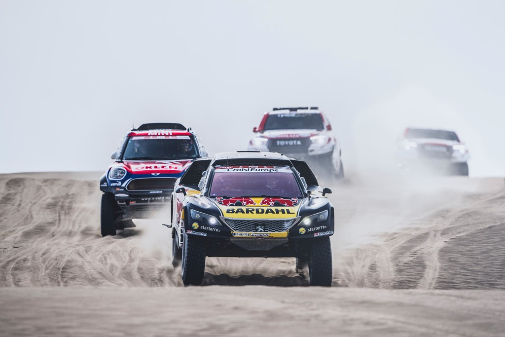Sebastien Loeb (FRA) and Daniel Elena (MCO) of PH Sport race during stage 9 of Rally Dakar 2019 from Pisco to Pisco, Peru on January 16, 2019. // Flavien Duhamel/Red Bull Content Pool // AP-1Y55SH8R92111 // Usage for editorial use only // Please go to www.redbullcontentpool.com for further information. //