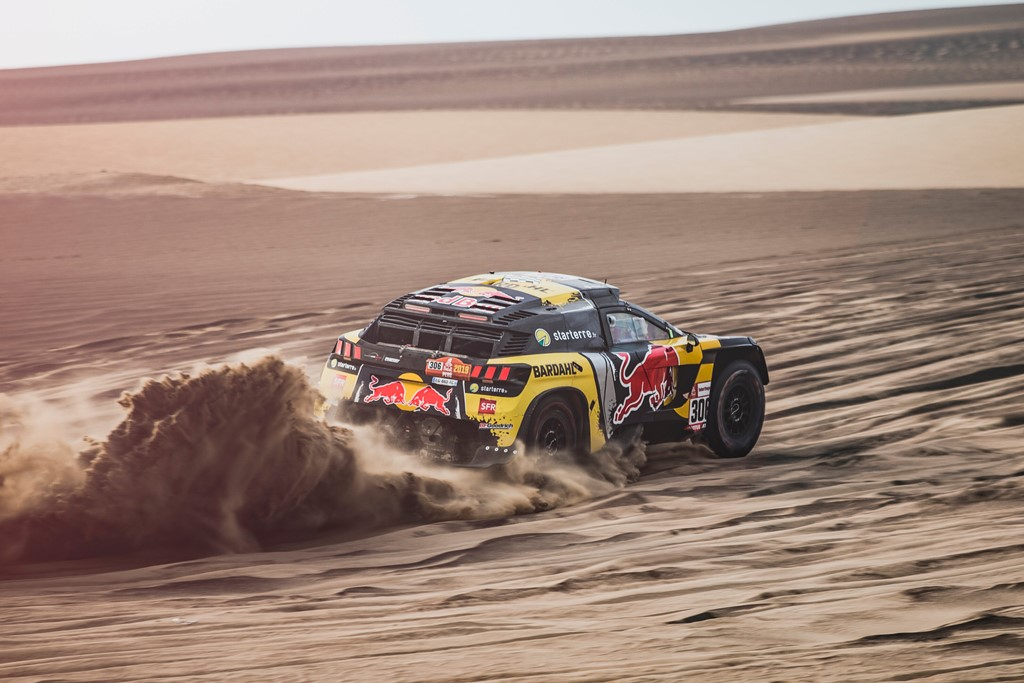 Sebastien Loeb (FRA) and Daniel Elena (MCO) of PH Sport race during stage 9 of Rally Dakar 2019 from Pisco to Pisco, Peru on January 16, 2019. // Flavien Duhamel/Red Bull Content Pool // AP-1Y56SYDPS2111 // Usage for editorial use only // Please go to www.redbullcontentpool.com for further information. //