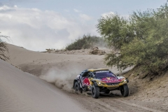 Stephane Peterhansel (FRA) of Team Peugeot TOTAL races during stage 11 of Rally Dakar 2018 from Belen to Chilecito, Argentina on January 17, 2018. // Flavien Duhamel/Red Bull Content Pool // P-20180117-01177 // Usage for editorial use only // Please go to www.redbullcontentpool.com for further information. //