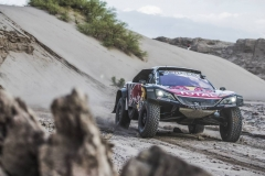 Carlos Sainz (ESP) of Team Peugeot TOTAL races during stage 11 of Rally Dakar 2018 from Belen to Chilecito, Argentina on January 17, 2018. // Flavien Duhamel/Red Bull Content Pool // P-20180117-01207 // Usage for editorial use only // Please go to www.redbullcontentpool.com for further information. //