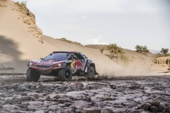 Cyril Despres (FRA) of Team Peugeot TOTAL races during stage 11 of Rally Dakar 2018 from Belen to Chilecito, Argentina on January 17, 2018. // Flavien Duhamel/Red Bull Content Pool // P-20180117-01230 // Usage for editorial use only // Please go to www.redbullcontentpool.com for further information. //