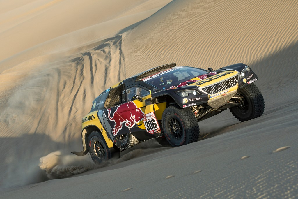 Sebastien Loeb (FRA) of PH Sport races during stage 02 of Rally Dakar 2019 from Pisco to San Juan de Marcona on January 08, 2019 // Marcelo Maragni/Red Bull Content Pool // AP-1Y2K1UJM92111 // Usage for editorial use only // Please go to www.redbullcontentpool.com for further information. //